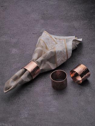 Copper Napkin Rings (Set of 6) (Dia:1.5in, W:1.5in, H:1.1in)