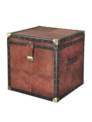 Antique Leather Brown Trunk