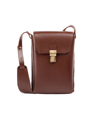 Tan Hand-Crafted Leather Sling Bag