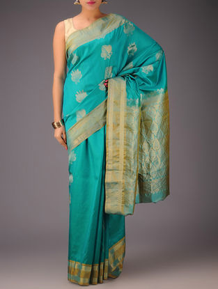 Green-Golden Kanjivaram Silk Saree