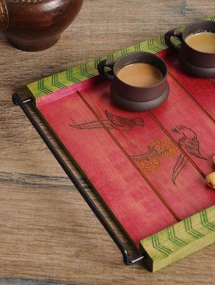 Parrot Design tray 13in x 11in x 1.3in