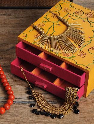 Peach Jewelry box 8.3in x 8in x 3.5in