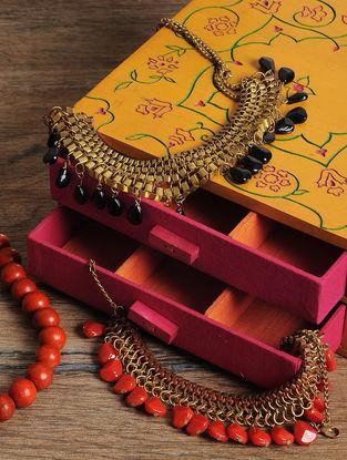 Peach Jewelry box 8in x 8in x 3.5in