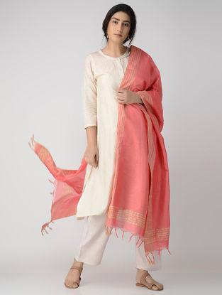 Pink Bhagalpuri Cotton Silk Dupatta