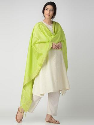 Lime Bhagalpuri Cotton Silk Dupatta