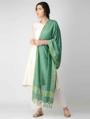 Green Bhagalpuri Cotton Silk Dupatta