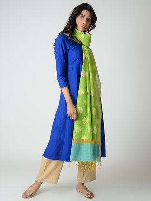 Green-Turquoise Benarasi Silk Dupatta