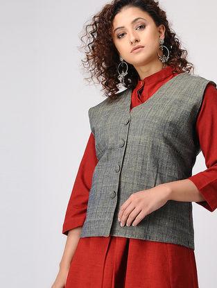 Grey-Green Upcycled Cotton Jacket