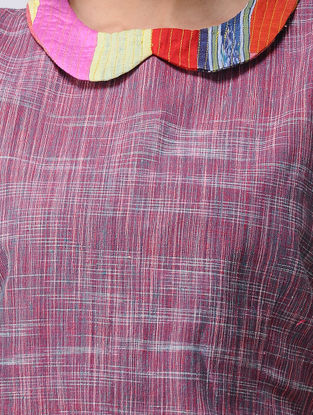 Pink-Red Recycled Cotton Blouse