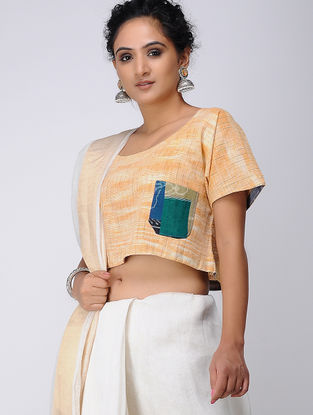 Beige-Green Recycled Cotton Blouse