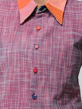 Pink-Orange Recycled Cotton Blouse