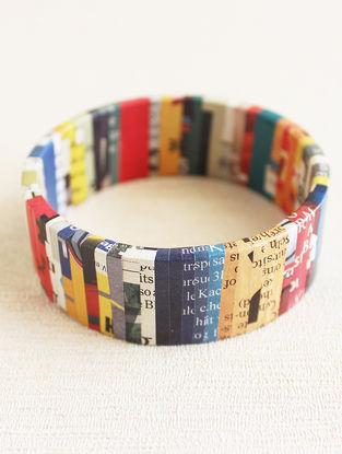 Multicolored Newspaper Bracelet