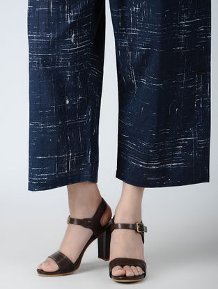 Indigo Elasticated-waist Ajrakh Pants