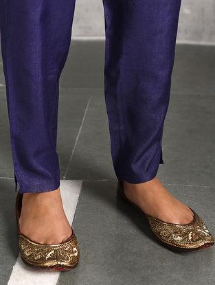 Blue Silk Cotton Pants