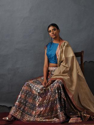 Multicolor Vintage Benarasi Silk Brocade Lehenga by Jaypore