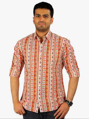 Coral Printed Full Sleeve Cotton Shirt