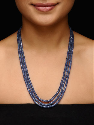 Blue Sapphire Beaded Necklace