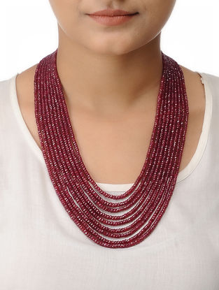 Ruby Multi-string Beaded Necklace