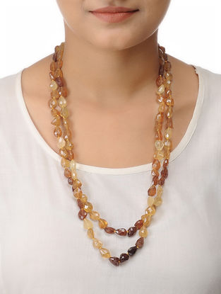 Hessonite Beaded Necklace