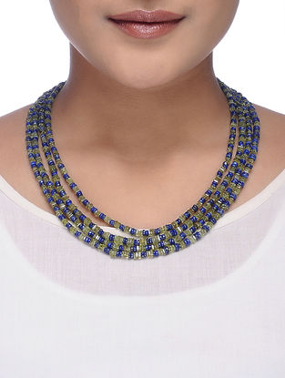 Peridot and Lapis Lazuli Beaded Necklace