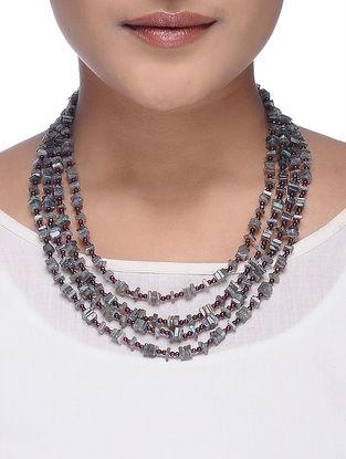 Labradorite and Garnet Beaded Necklace