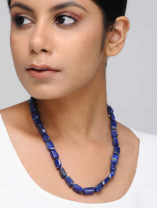Blue Lapis Lazuli Beaded Necklace