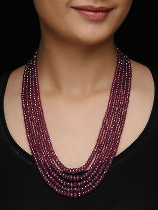 Spinel Ruby Beaded Multi-string Necklace