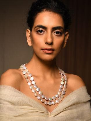 Baroque Pearl Beaded Silver Necklace