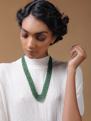 Emerald Multi-string Beaded Necklace