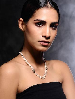 Pearl Beaded Polki Diamond Gold Necklace