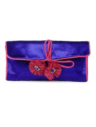 Blue-Pink Mashru Silk Pouch