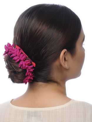 Fuchsia Handmade Croma Silk Hair Accessory