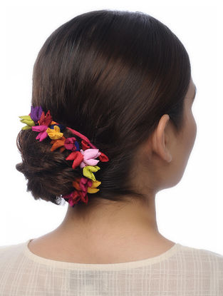 Multicolored Handmade Croma Silk Hair Accessory