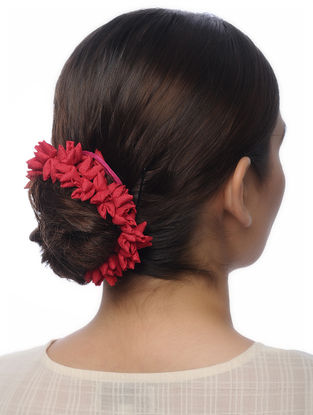 Red Handmade Croma Silk Hair Accessory