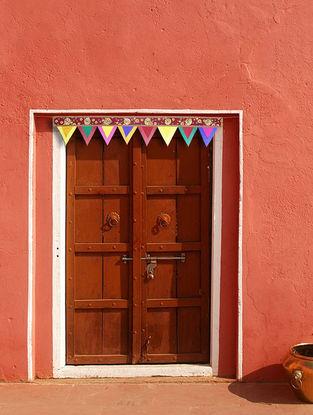Maroon-Multicolored Croma Silk Toran