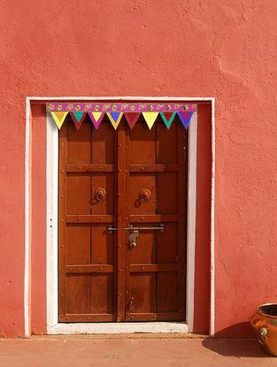 Fuschia-Multicolored Croma Silk Toran