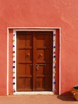 Multicolored Croma Silk Hangings