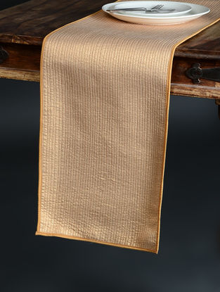 Golden Quilted Brocade and Chroma Silk Runner