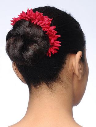 Red Handmade Croma Silk Gajra