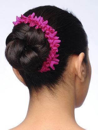 Pink Handmade Croma Silk Gajra