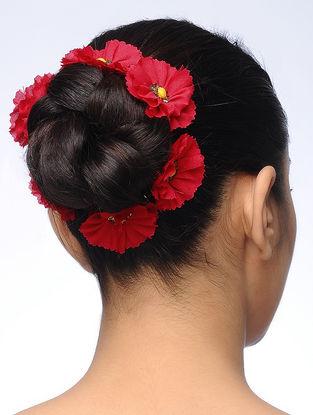 Pink Handmade Croma Silk Floral Gajra