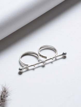 Tribal Silver Ring (Ring Size - 7.5)