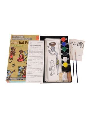 DIY Indian Art Kit - Santhal Painting of Orissa
