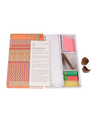 DIY Indian Craft Kit - Hand Block Printing Classic