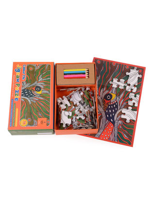 Color Me Jigsaw Puzzle- Madhubani Painting of Bihar