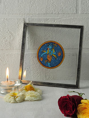 Vaman Avatar Framed Ganjifa Card 6.5in x 6.5in