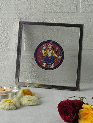 Balarama Avatar Framed Ganjifa Card 6.5in x 6.5in