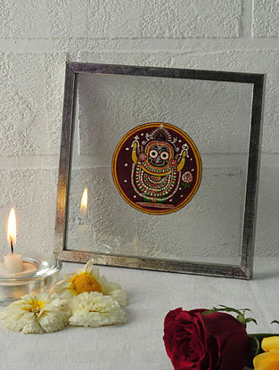 Buddha Avatar Framed Ganjifa Card 6.5in x 6.5in