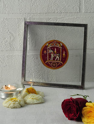 Kalki Avtar Framed Ganjifa Card 6.5in x 6.5in