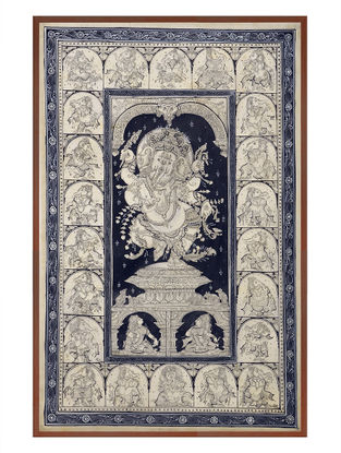 Ganesha Pattachitra on Silk 38in x 25.6in